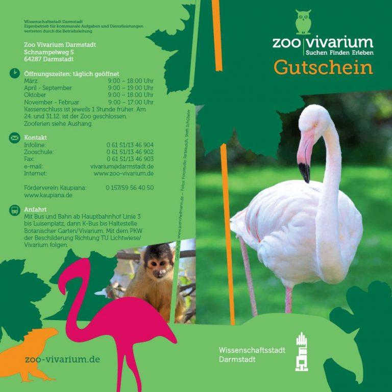 Zoo Vivarium Gutscheinkarte