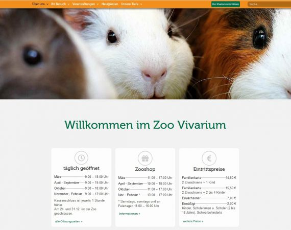 Homepage Vivarium